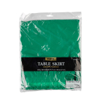Table Skirt Festive Green Plastic 426 x 73 cm