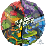 Standard Rise Of The TMNT Foil Balloon S60 Packaged
