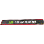 Sash 40th Birthday Fabric / Plastic 152.4 x 7.6 cm