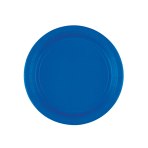 8 Plates Bright Royal Blue Paper Round 17.7 cm