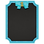 Chalkboard Sign 1st Birthday Blue MDF 22.8 x 17.7 cm