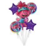 Bouquet Trolls World Tour Foil Balloon P75 packaged