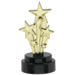 6 Trophies Hollywood Plastic 10.1 x 5 cm