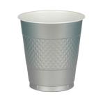 10 Cups Plastic Silver 355 ml