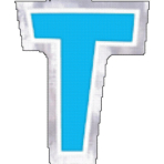 48 Stickers Letter T