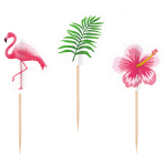 20 Picks Flamingo Paradise Wood 7.5 cm