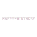 Letter Banner Birthday Accessories Pink Foil