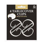 4 Tablecover Clips Plastic