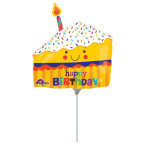 Mini Shape Happy Slice of CakeFoil Balloon A30 Air Filled