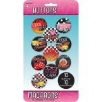 10 Buttons Classic 50's 4.4 cm