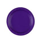 8 Plates Paper Purple 17.7 cm