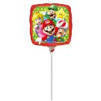 9'' Mario Bros Foil Balloon Square A20 Bulk 23 cm
