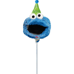 "Mini Shape ""Sesame Street Fun""Foil Balloon, A30, airfilled, 20x27cm"