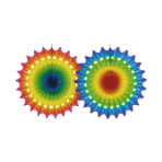 Fan Decoration Multicolour Paper 50 cm