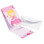 8 Invitations & Envelopes My Princess Paper 8 x 14.1 cm