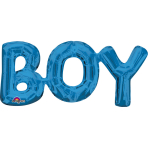 "SuperShape Phrase ""Boy"" Blue Foil Balloon P35 Packaged 50 x 22 cm"