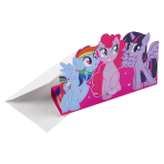 8 Invitations & Envelopes My Little Pony - 2017 Paper 11.3 x 16 cm