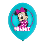 6 Latex Balloons Minnie Mouse 4 Colour 27.5cm/11""