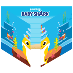8 Invites and Envelopes Baby Shark Paper