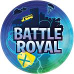 8 Plates Battle Royal Round Paper 23 cm