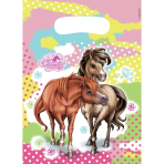 6 Party Bags Charming Horses 2 Plastic 23.4 x 16.2 cm
