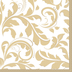 16 Napkins Ornamental Gold 33x 33 cm