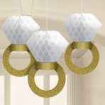 3 Honeycomb Decorations Wedding Decorations Paper 30.4cm