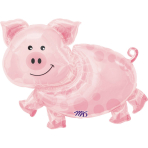 SuperShape Pig Foil Balloon P35 Bulk