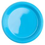 20 Plates Caribbean Plastic Round 17.7 cm