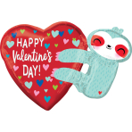 SuperShape HVD Sloth Foil Balloon P35 packaged 76 cm x 53 cm