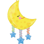 SuperShape Moon And Stars Foil Balloon P35 Packaged
