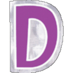 48 Stickers Letter D