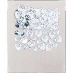 Confetti Loving Hearts Silver Foil 14 g