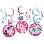 6 Swirl Decorations My Little Pony 2017 Foil / Paper 61 cm