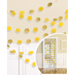 6 String Decorations Glitter Yellow 213 cm