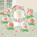 Table Decorating Kit Floral Baby Paper 27 Pieces 32.5 cm / 17.7 cm / 5 - 10.9 cm