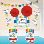 Decoration Kit Bright Birthday Paper / Foil 10 Pieces 304 cm / 25.4 - 35.5 cm
