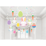 30 Swirl Decoration Easter Hello Bunny