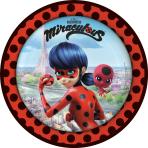 8 Plates Miraculous Round Paper 23 cm