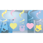 5 Swirl Decorations Baby Shower Foil / Paper 61 cm