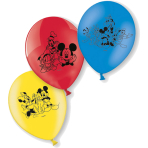 """6 Latex Balloons Mickey Mouse 22.8 cm / 9"""""""