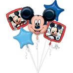 """Bouquet """"Mickey Roadster Racers"""" 5 Foil Balloons  , P75, packed,"""