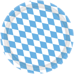8 Plates Bavaria Paper Round Light Blue 22.8 cm