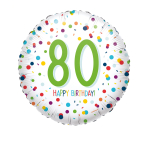 Standard EU Confetti Bday 80 Foil Balloon S40 packaged