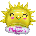 Supershape Happy Mother's Day Iridescent Happy Sun Foil Balloon P40 packaged