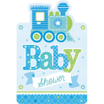 8 Invitations & Envelopes Welcome Little One - Boy 15.8 x 10.8 cm