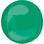 Orbz Green Foil Balloon G20 Bulk 38 x 40 cm