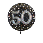 Multi Balloon Sparkling Birthday 50 Foil Balloon P75 Packaged 81 x 81 cm