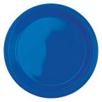 20 Plates Plastic Bright Blue Blue 17.7 cm