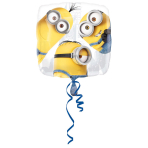 Standard Despicable Me Group Foil Balloon, round, S60, packed, 43 cm
